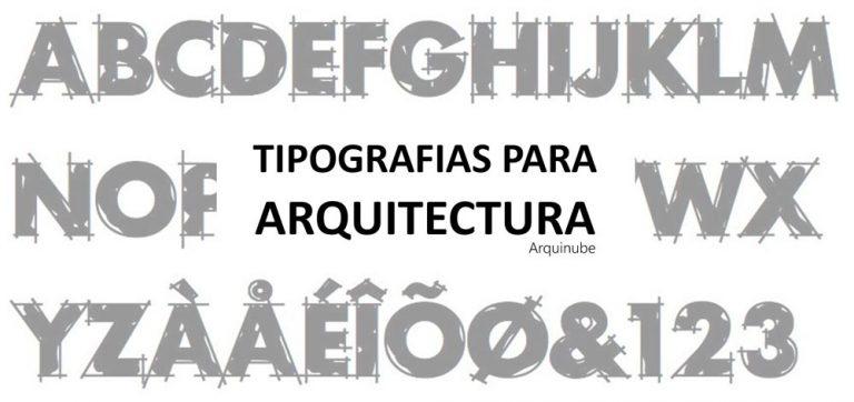 tipografias-para-arquitectura - arquinube