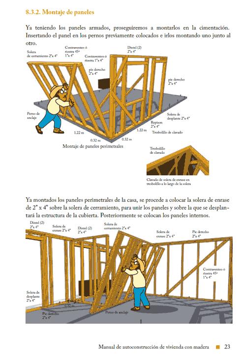 autoconstruccion de vivienda con madera